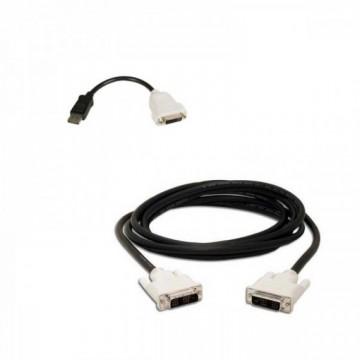 Adaptor cablu DisplayPort to DVI-D + cablu DVI-D to DVI-D, Second Hand Calculatoare