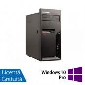 Calculatoare Refurbished Lenovo Thinkcentre M58p Tower, Intel Core 2 Duo E8400, 3.00Ghz, 2GB DDR3, 160GB HDD, DVD-ROM + Windows 10 Pro