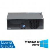 Calculator Fujitsu E7936 SFF, Intel Core 2 Duo E8400 3.00GHz, 4GB DDR3, 500GB SATA, DVD-ROM + Windows 10 Home