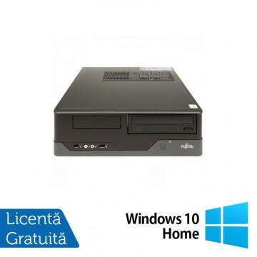 Calculator FUJITSU SIEMENS E400 SFF, Intel Core i3-2100 3.10GHz, 4GB DDR3, 250GB SATA, DVD-ROM + Windows 10 Home, Refurbished Calculatoare