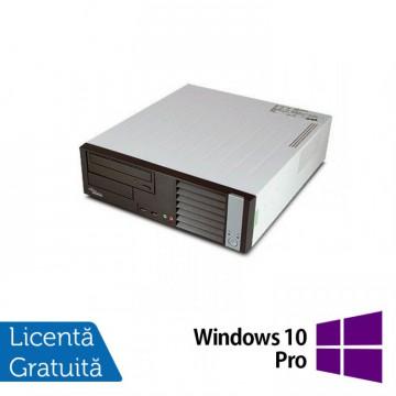 Calculator FUJITSU SIEMENS P5625, AMD Athlon Dual Core 64 x2 5600B 2.90 GHz, 4GB DDR2, 160GB SATA, DVD-RW + Windows 10 Pro, Refurbished Calculatoare Ieftine