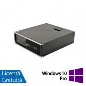 Calculator HP 6200 Pro Desktop, Intel Core i3-2100 3.10 GHz, 4GB DDR3, 250GB SATA, DVD-ROM + Windows 10 Pro, Refurbished Calculatoare