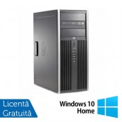 Calculator HP 6200 Pro Mt Tower, Intel Core i3-2100 3.10GHz, 4GB DDR3, 250GB SATA, DVD-ROM + Windows 10 Home, Refurbished Calculatoare