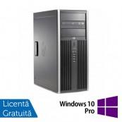 Calculator HP 6200 Pro Mt Tower, Intel Core i3-2100 3.10GHz, 4GB DDR3, 500GB SATA, DVD-ROM + Windows 10 Pro