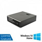 Calculator HP 6300 SFF, Intel Pentium G620 2.60GHz, 4GB DDR3, 250GB SATA, DVD-RW + Windows 10 Home