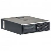 Calculator HP 8000 Elite SFF, Intel Core 2 Duo E7500 2.93GHz, 4GB DDR3, 250GB SATA, DVD-ROM, Second Hand Calculatoare