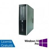 Calculator HP 8000 Elite SFF, Intel Core 2 Duo E8400 3.00GHz, 2GB DDR3, 250GB SATA, DVD-ROM + Windows 10 Pro