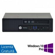 Calculator HP EliteDesk 800 G1 USDT, Intel Core i3-4360 3.40GHz, 4GB DDR3, 500GB SATA, DVD-RW + Windows 10 Pro