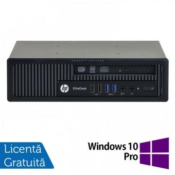 Calculator HP EliteDesk 800 G1 USDT, Intel Core i3-4360 3.40GHz, 4GB DDR3, 500GB SATA, DVD-RW + Windows 10 Pro, Refurbished