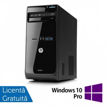 Calculator HP Pro 3400 Tower, Intel Core i3-2120 3.30GHz, 4GB DDR3, 500GB SATA, DVD-RW + Windows 10 Pro, Refurbished