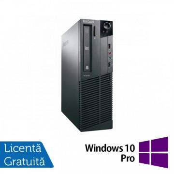 Calculator Lenovo M81 SFF, Intel Core i5-2400 3.10GHz, 4GB DDR3, 250GB SATA, DVD-ROM + Windows 10 Pro, Refurbished