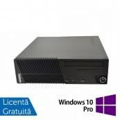 Calculator Lenovo ThinkCentre M71e SFF, Intel Core i3-2100 3.10GHz, 4GB DDR3, 250GB SATA, DVD-RW + Windows 10 Pro