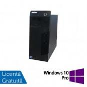 Calculator Lenovo Thinkcentre M72E Tower, Intel Core i3-2100 3.10GHz, 4GB DDR3, 250GB SATA + Windows 10 Pro