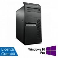 Calculator Lenovo Thinkcentre M83 Tower, Intel Core i3-4160 3.60GHz, 4GB DDR3, 250GB SATA, DVD-ROM + Windows 10 Pro