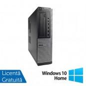Calculator Refurbished Dell Optiplex 7010 Desktop, Intel Core i3-2100 3.10 GHz, 4GB DDR 3, 250GB SATA, DVD-ROM + Windows 10 Home Calculatoare