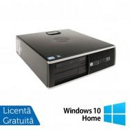 Calculator Refurbished HP 8000 Elite SFF, Intel Celeron E3400 2.60GHz, 4GB DDR3, 250GB SATA, DVD-ROM + Windows 10 Home