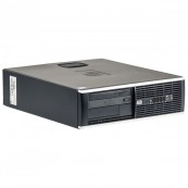 Calculator Refurbished HP 8000 Elite SFF, Intel Core 2 Duo E7500 2.93GHz, 4GB DDR3, 250GB SATA, DVD-ROM + Windows 10 Home Calculatoare