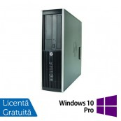 Calculator Refurbished HP 8000 Elite SFF, Intel Core 2 Duo E8400, 3.00GHz, 4GB DDR3, 250GB SATA, DVD-ROM + Windows 10 Pro Calculatoare
