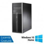 Calculator Refurbished HP Compaq 8000 Elite Tower, Intel Core 2 Quad Q9500 2.83GHz, 4GB DDR 3, 250GB SATA, DVD-ROM + Windows 10 Home