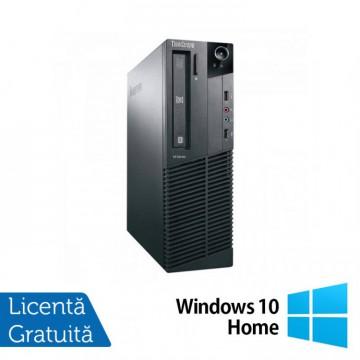 Calculator Refurbished LENOVO M81P, SFF, Intel Pentium Dual Core G850, 2.90GHz, 4GB DDR3, 250GB SATA + Windows 10 Home Calculatoare