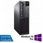 Calculator Refurbished LENOVO Thinkcentre M72 SFF, G840, 2.80 GHz, 8GB DDR3, 250GB SATA, DVD-ROM + Windows 10 Pro Calculatoare