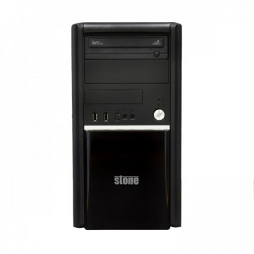 Carcasa Stone, Middle Tower, Front Panel USB/Card Reader/eSATA Hub, Ventilator 120x120, Fara Sursa, Second Hand