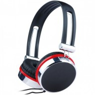 Casti Gembird cu microfon, lungime fir 1.5m, control volum pe cablu, conector jack 3.5mm, Black (+ Silver & Red)