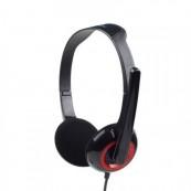 Casti Gembird cu microfon, lungime fir 1.8m, conector jack 3.5mm, Black