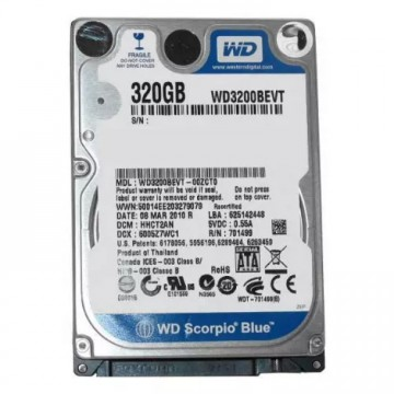 """HDD 320 GB 2.5"""" laptop, Second Hand"""
