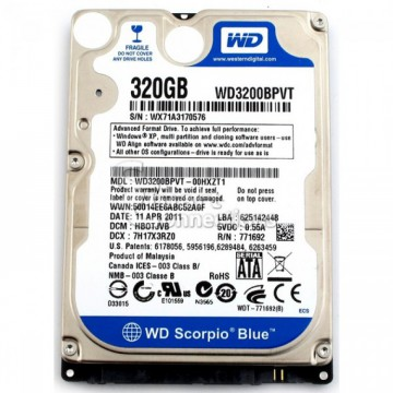 HDD Laptop 320GB SATA, 2.5 inch, Diverse Modele, Second Hand Laptopuri