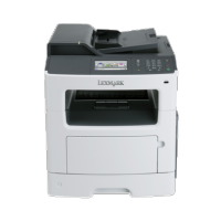 Multifunctionala LEXMARK MX410de, 38 PPM, 1200 x 1200 DPI, Duplex, Retea si USB, A4, Monocrom