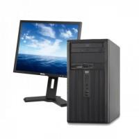 Calculator HP DX2250, MT, AMD Athlon 64 x2 5000+, 2.60 GHz, 2 GB DDR2, 250GB SATA, DVD-RW + Monitor DELL P190ST