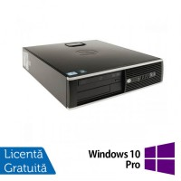 Calculator HP 8200 Elite SFF, Intel Core i5-2400 3.1GHz, 4GB DDR3, 250GB SATA, DVD-RW + Windows 10 Pro