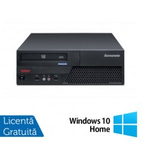 Calculator LENOVO ThinkCentre M58p SFF, Intel Core 2 Duo E8400 3.0 GHz, 4 GB DDR3, 250GB SATA, DVD-RW + Windows 10 Home