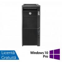 Workstation HP Z820, 2x Intel Xeon E5-2670 V2 2.5GHz-3.3GHz DECA Core, 64GB DDR3 ECC, 2TB HDD + 240GB SSD, nVidia Quadro  K2000 2GB GDDR5,128-BIT + Windows 10 Pro