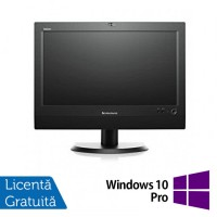 All In One LENOVO M72z 20 inch 1600x900, Intel Core i3-3220 3.3GHz, 4GB DDR3, 500GB SATA, DVD-RW  + Windows 10 Pro