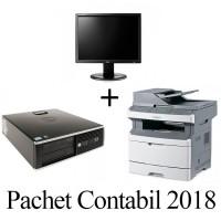 Pachet Contabil 2018 -  HP 8200 Elite SFF + Monitor LG Flatron E1910 + Imprimanta Multifunctionala LEXMARK X363DN