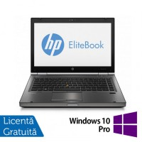 Laptop Refurbished HP EliteBook 8470p, Intel Core i5-3210M 2.50 GHz, 4GB DDR 3, 320GB SATA, DVD-RW, 14 inch LED backlight + Windows 10 Pro