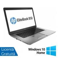 Laptop Refurbished HP ProBook 850 G1, Intel Core i5-4200U 1.60GHz , 8GB DDR3, 320GB SATA, Webcam, LED backlight, 15.6 inch + Windows 10 Home