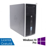 Calculator HP 6200 Pro Mt Tower, Intel Core i3-2100 3.10GHz, 4GB DDR3, 500GB SATA, DVD-RW + Windows 10 Pro