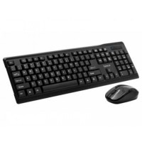 Kit Wireless Tastatura + Mouse  Combo, SPACER SPDS-1100, Plug&Play, Querty, USB, 800 dpi, Negru