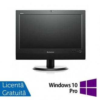 All In One Refurbished LENOVO M72z 20 inch 1600x900, Intel Core i3-3220 3.30GHz, 8GB DDR3, 240GB SSD, DVD-RW + Windows 10 Pro