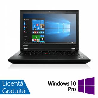 Laptop Refurbished LENOVO L440, Intel Core i5-4300M, 2.6GHz, 4GB DDR3, 500GB SATA, DVD-RW Extern, Display 14 Inch Wide + Windows 10 Pro