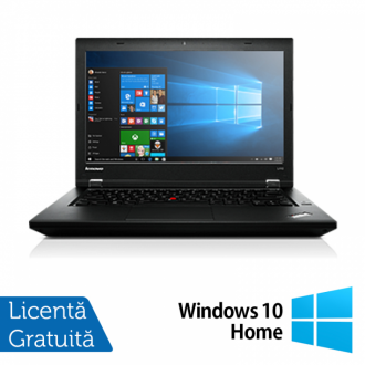 Laptop Refurbished LENOVO L440, Intel Core i5-4300M, 2.6GHz, 4GB DDR3, 500GB SATA, DVD-RW Extern, Display 14 Inch Wide + Windows 10 Home
