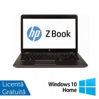 Laptop Refurbished Hp Zbook 14, Intel Core i7-4600U 2.10Ghz, 16GB DDR3, 256GB SSD, 14 inch, LED display + Windows 10 Home
