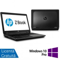Laptop Refurbished Hp Zbook 15, Intel Core i7-4600U 2.10Ghz, 16GB DDR3, 256GB SSD, 15 inch, LED display + Windows 10 Pro