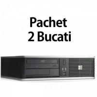 Pachet 2 Bucati - Calculator Second Hand HP DC7900 SFF, Intel Core 2 Duo E7500 2.93GHz, 4GB DDR2, 160GB SATA, DVD-ROM