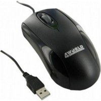 Mouse Optic 4World BASIC3, USB, 1200dpi, Negru