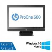 Calculator All In One HP ProOne 600 G1 21.5 Inch, Intel Core i3-4130 3.40GHz, 8GB DDR3, 500GB SATA, DVD-RW + Windows 10 Home