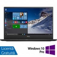 Laptop DELL Latitude 7370, Intel Core M7-6Y75 1.20-3.10GHz, 8GB DDR3, 240GB SSD, 13.3 Inch Full HD, Webcam + Windows 10 Pro
